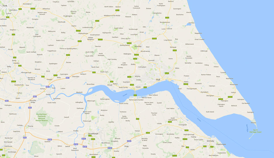 Graphic Map of East Yorkshire